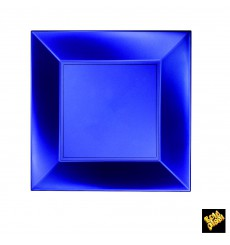 Prato Plastico Raso Azul Nice Pearl PP 230mm(25 Uds)