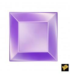 Prato Plastico Raso Violeta Nice Pearl PP 230mm (25 Uds)