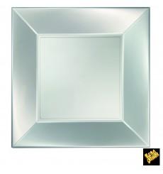 Prato Plastico Raso Prata Nice Pearl PP 290mm (12 Uds)