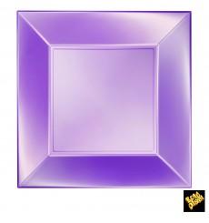 Prato Plastico Raso Violeta Nice Pearl PP 290mm (12 Uds)