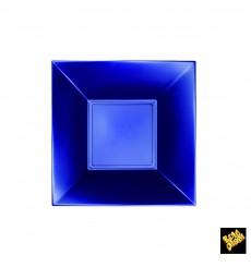 Prato Plastico Fundo Azul Nice Pearl PP 180mm (25 Uds)