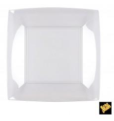 Prato Plastico Raso Transp. Nice PS 230mm (25 Uds)