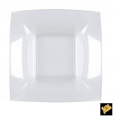 Prato Plastico Fundo Transp. Nice PS 180mm (25 Uds)