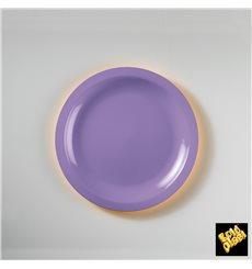 Prato Plastico Raso Lilás Ø185mm (50 Uds)