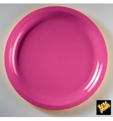 Prato de Plastico Fucsia Round PP Ø290mm (300 Uds)