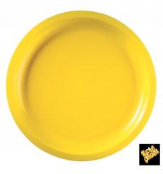 Prato de Plastico Amarelo Round PP Ø290mm (25 Uds)