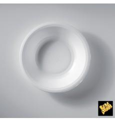 Prato de Plastico Fundo Branco Round PP Ø195mm (50 Uds)