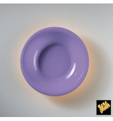 Prato de Plastico Fundo Lilás Round PP Ø195mm (600 Uds)