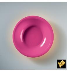 Prato de Plastico Fundo Fucsia Round PP Ø195mm (50 Uds)