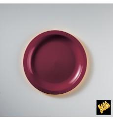 Prato Plastico Raso Bordeaux Round PP Ø185mm (600 Uds)