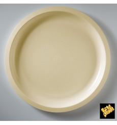 Prato de Plastico Creme Round PP Ø290mm (300 Uds)