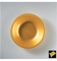 Prato de Plastico Fundo Ouro Round PP Ø195mm (600 Uds)