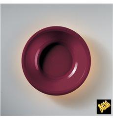 Prato de Plastico Fundo Bordeaux Round PP Ø195mm (50 Uds)