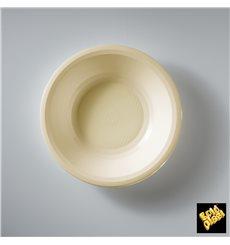 Prato de Plastico Fundo Creme Round PP Ø195mm (600 Uds)