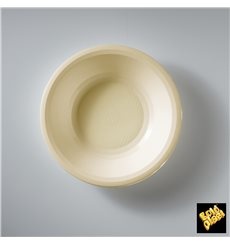 Prato de Plastico Fundo Creme Round PP Ø195mm (50 Uds)
