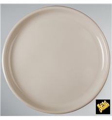 Prato de Plastico para Pizza Bege Round PP Ø350mm (144 Uds)