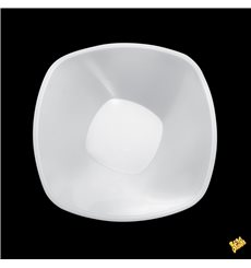 "Tigela de Plastico PP ""Square"" Branco 1250ml Ø21cm (60 Uds)"