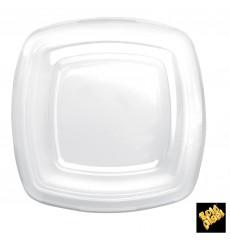 Tampa Plastico Transp. para Prato Square PET 180mm (300 Uds)