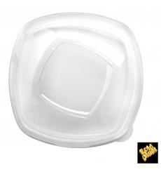 """Tampa Plastico PET Cristal """"Square"""" 21cm (60 Uds)"""