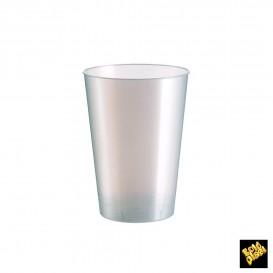 Copo Plastico Moon Cristal Branco Pearl PS 230ml (50 Uds)