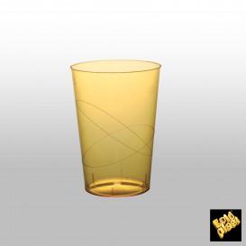 Copo Plastico Moon Cristal Amarelo Transp. PS 230ml (50 Uds)