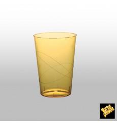 Copo Plastico Moon Cristal Amarelo Transp. PS 230ml (1000 Uds)