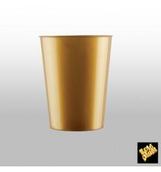 Copo Plastico Moon Cristal Ouro PS 320ml (20 Uds)