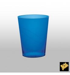 Copo Plastico Moon Cristal Azul Transp. PS 350ml (400 Uds)