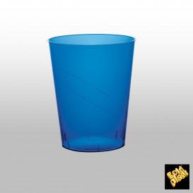 Copo Plastico Moon Cristal Azul Transp. PS 350ml (20 Uds)