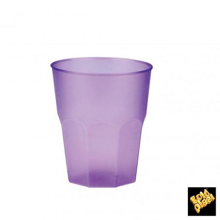 Copo Plastico Cristal Laranja PP 250ml (20 Uds)