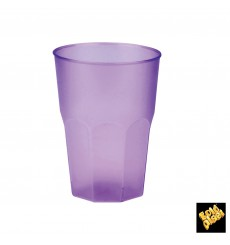 "Copo Plastico ""Frost"" Lilás 350ml (20 Uds)"