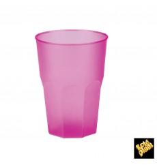 """Copo Plastico """"Frost"""" Fucsia PP 350ml (20 Uds)"""