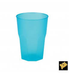 "Copo Plastico ""Frost"" Turquesa PP 350ml (20 Uds)"