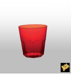 Copo Plastico Vermelho Transp. PS  Ø73mm 220ml (1000 Uds)