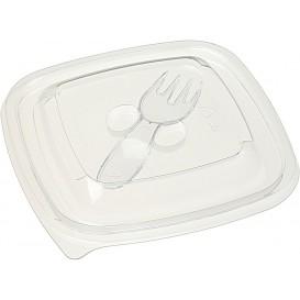 Tampa de Plastico para Saladeira PET Ø120x120mm (500 Uds)
