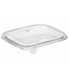 Tampa Plana de Plastico para Saladeira PET 12x12cm (1000 Uds)