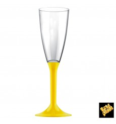 Copo PS Flute Champanhe Amarelo 120ml 2P (200 Uds)