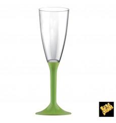 Copo PS Flute Champanhe Verde Limão 120ml 2P (20 Uds)