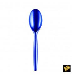 Colher de Plástico Easy PS Azul Perle 185mm (500 Uds)