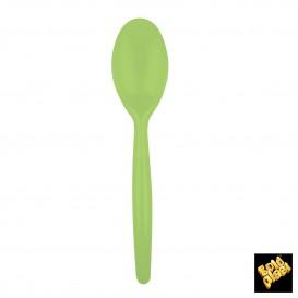 Colher de Plástico Easy PS Verde Lima 185 mm (500 Uds)