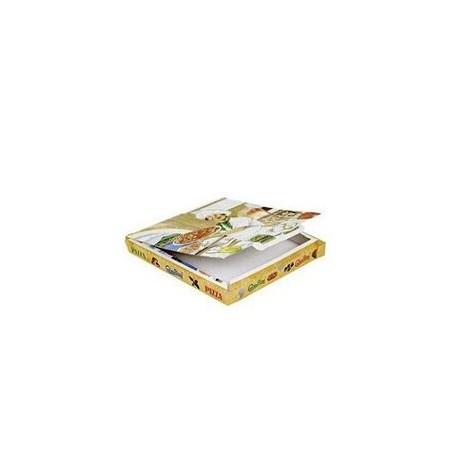 Cajas para Pizza 33x33x4 Vegetal (Paquete 100Uds)