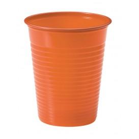 Copo de Plastico Laranja PS 200 ml (50 Unidades)