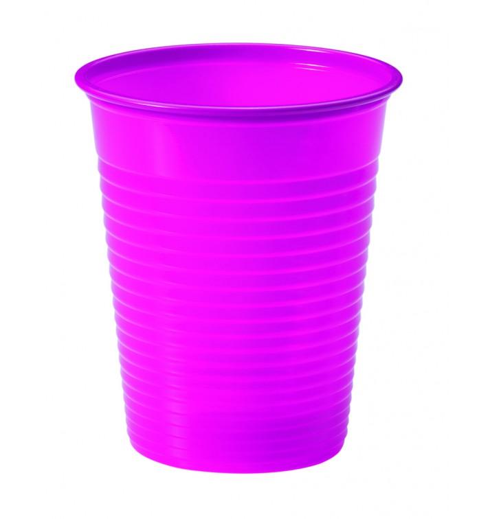Copo de Plastico Fucsia PS 200 ml (50 Unidades)