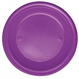 Prato Plastico PS Fundo Violeta Ø220 mm (600 Unidades)