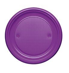 Prato Plastico Raso Violeta PS 170mm (50 Unidades)