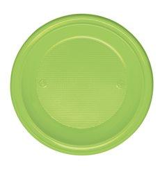 Prato Plastico Fundo Verde PS 220 mm (600 Unidades)