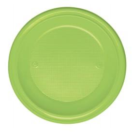 Prato Plastico Fundo Verde PS 220 mm (30 Unidades)