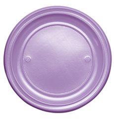 Prato Plastico Raso Violeta PS 220 mm (30 Unidades)