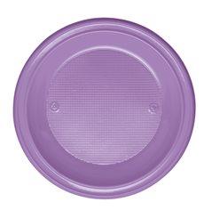 Prato Plastico Fundo Violeta PS 220 mm (30 Unidades)