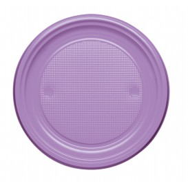 Prato Plastico PS Raso Lilás Ø170mm (50 Unidades)